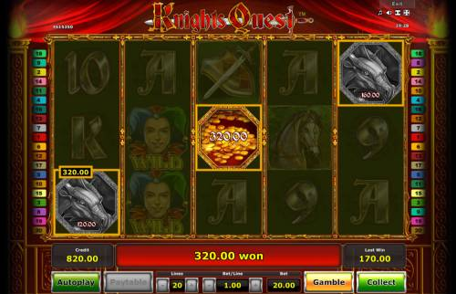 Knights Quest Review Slots Pick a dragon to reveal a prize
