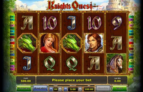 Knights Quest Review Slots Main Game Board