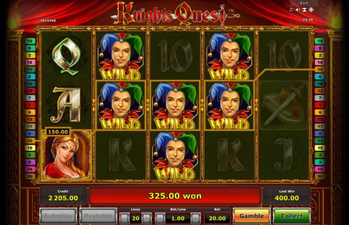 Knights Quest Review Slots Multiple winning paylines triggers a big win