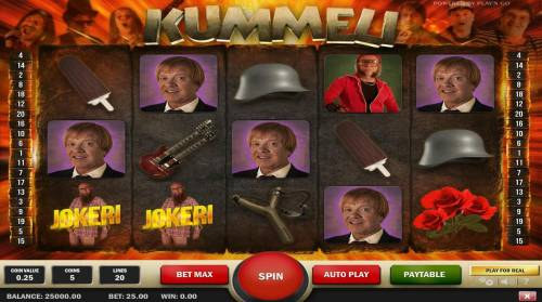 Kummeli Review Slots Main Game Board