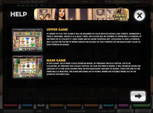 La Reina del Nilo Review Slots Upper Game and Lower Game Rules