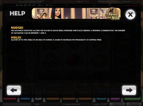 La Reina del Nilo Review Slots Nudges and Holds