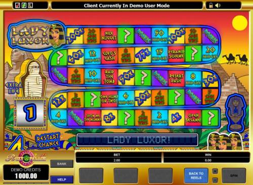 Lady Luxor Review Slots bonus feature game board