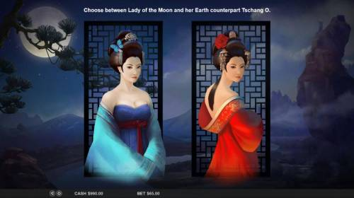 Lady of the Moon Review Slots Choose between Lady of the Moon and her Earth counterpart Tschang O.