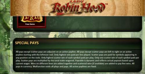Lady Robin Hood Review Slots special pays