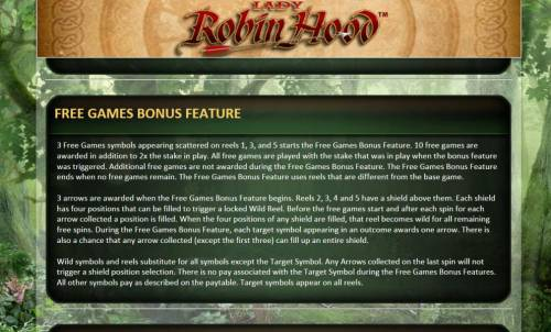 Lady Robin Hood Review Slots free games bonus feature