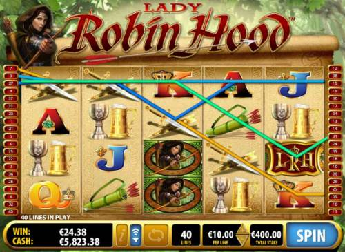 Lady Robin Hood Review Slots multiple winning paylines