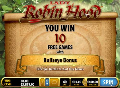 Lady Robin Hood Review Slots 10 free games awarded