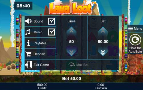 Lava Loot Review Slots Betting Options