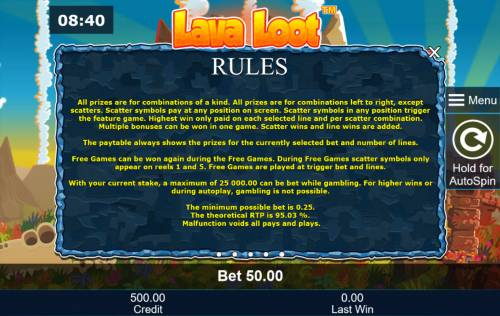 Lava Loot Review Slots General Game Rules