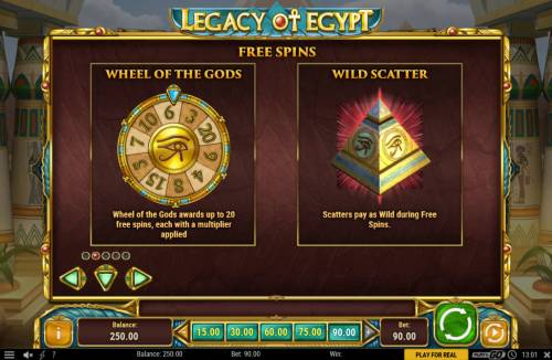 Legacy of Egypt Review Slots Free Spins Rules