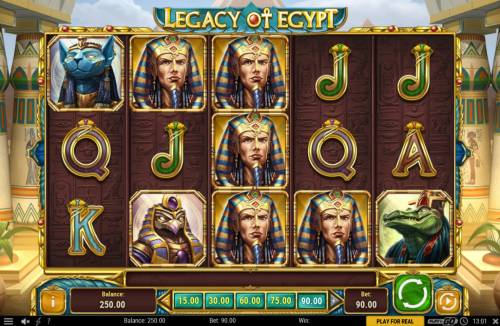 Legacy of Egypt Review Slots Main Game Board