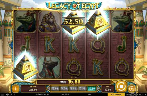 Legacy of Egypt Review Slots Scatter win triggers the free spins feature