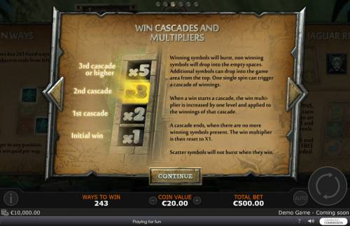 Legend of the Jaguar Review Slots Win Cascade and Multipliers