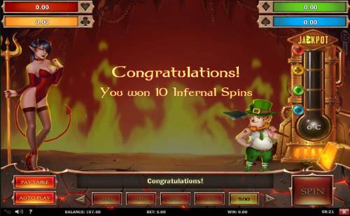 Leprechaun Goes to Hell Review Slots 10 Infernal Spins awarded.