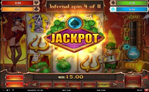 Leprechaun Goes to Hell Review Slots Jackpot awarded once the temperature rises to each level marked on the thermometer.