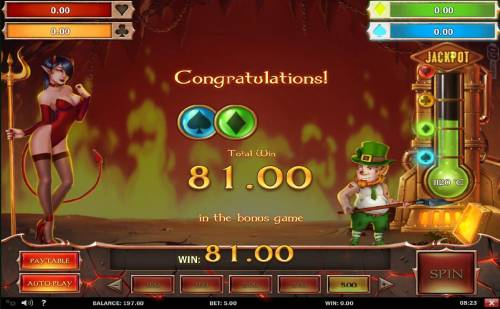 Leprechaun Goes to Hell Review Slots Two jackpots awarded during the Infernal Bonus game.