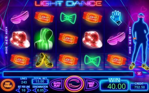Light Dance Review Slots A winning five of a kind