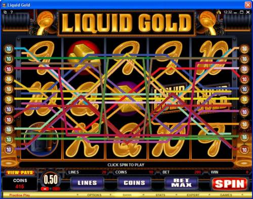 Liquid Gold review on Review Slots