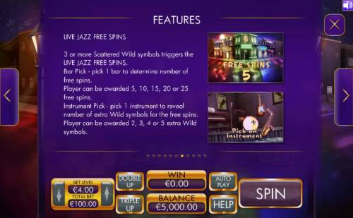 Live Jazz review on Review Slots