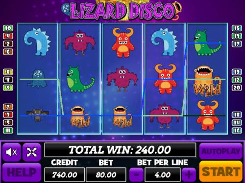 Lizard Disco review on Review Slots