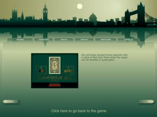 London Review Slots gamble feature rules