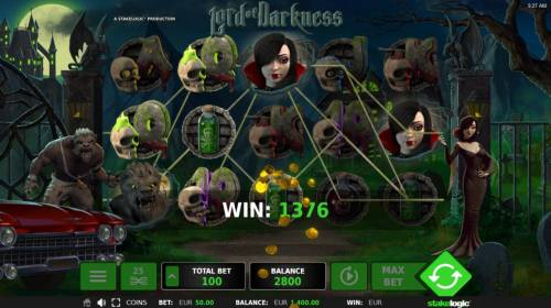 Lord of Darkness Review Slots Multiple winning paylines triggers a big win!