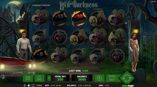 Lord of Darkness Review Slots Selection awards 10 free spins.