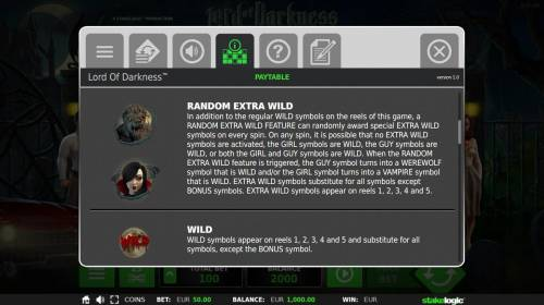 Lord of Darkness Review Slots Random Extra Wild and Wild Rules