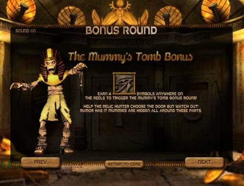 Lost Review Slots the mummy's tomb bonus feature rules