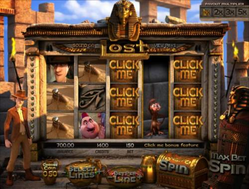 Lost Review Slots the monkey click me feature is triggered. now you select the click me symbols to collect your prizes