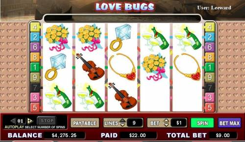 Love Bugs review on Review Slots
