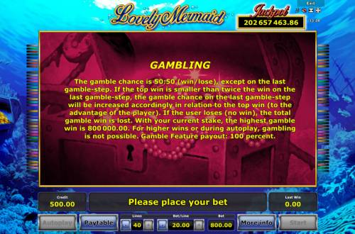 Lovely Mermaid Review Slots Gamble Feature Rules