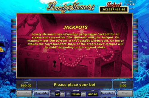 Lovely Mermaid Review Slots Jackpot Rules