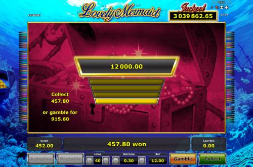 Lovely Mermaid Review Slots Ladder Gamble Feature Game Board