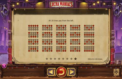 Lucha Maniacs Review Slots Paylines 1-20