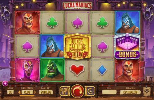 Lucha Maniacs Review Slots Main Game Board