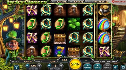 Lucky Clovers Review Slots Main Game Board