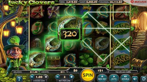 Lucky Clovers Review Slots A winning Three of a Kind