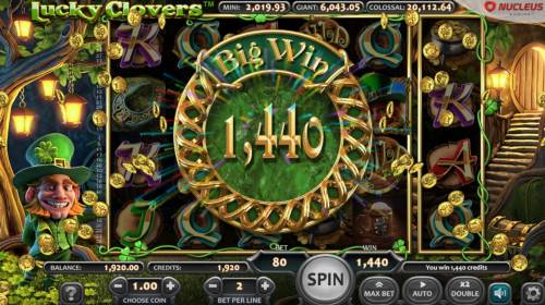 Lucky Clovers Review Slots Total Free Games Payout 1440 Coins