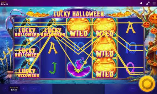 Lucky Halloween Review Slots Multiple winning paylines triggered by stacked wilds