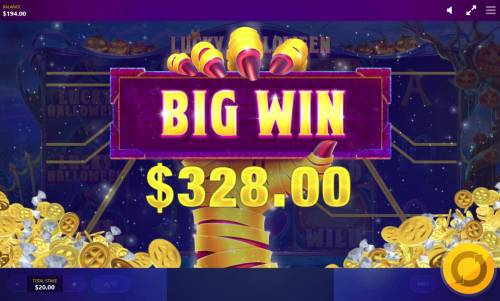 Lucky Halloween Review Slots A 328.00 Big Win.
