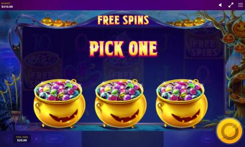 Lucky Halloween Review Slots Pick one pot of marbles to reveal how many free spins you win.