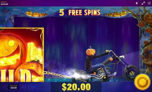 Lucky Halloween Review Slots Pumpkin Rider drags a Mega Wild on to the reels.