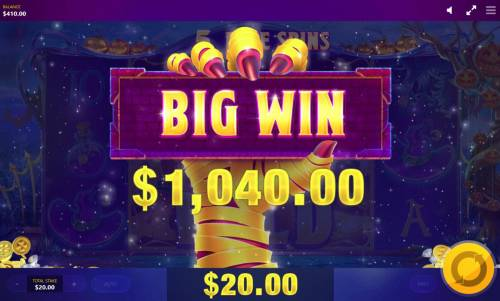 Lucky Halloween Review Slots A 1,040.00 big win paid out.
