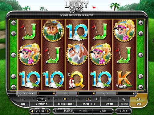 Lucky Swing Review Slots Main Game Board