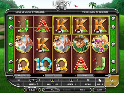 Lucky Swing Review Slots A winning three of a kind