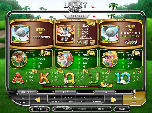 Lucky Swing Review Slots Paytable