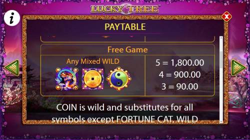 Lucky Tree Review Slots Free Game Wild Symbols Paytable