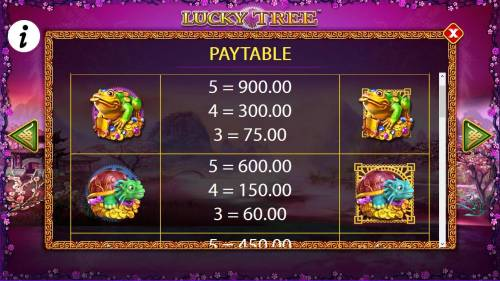 Lucky Tree Review Slots Free Games High Value Symbols Paytable
